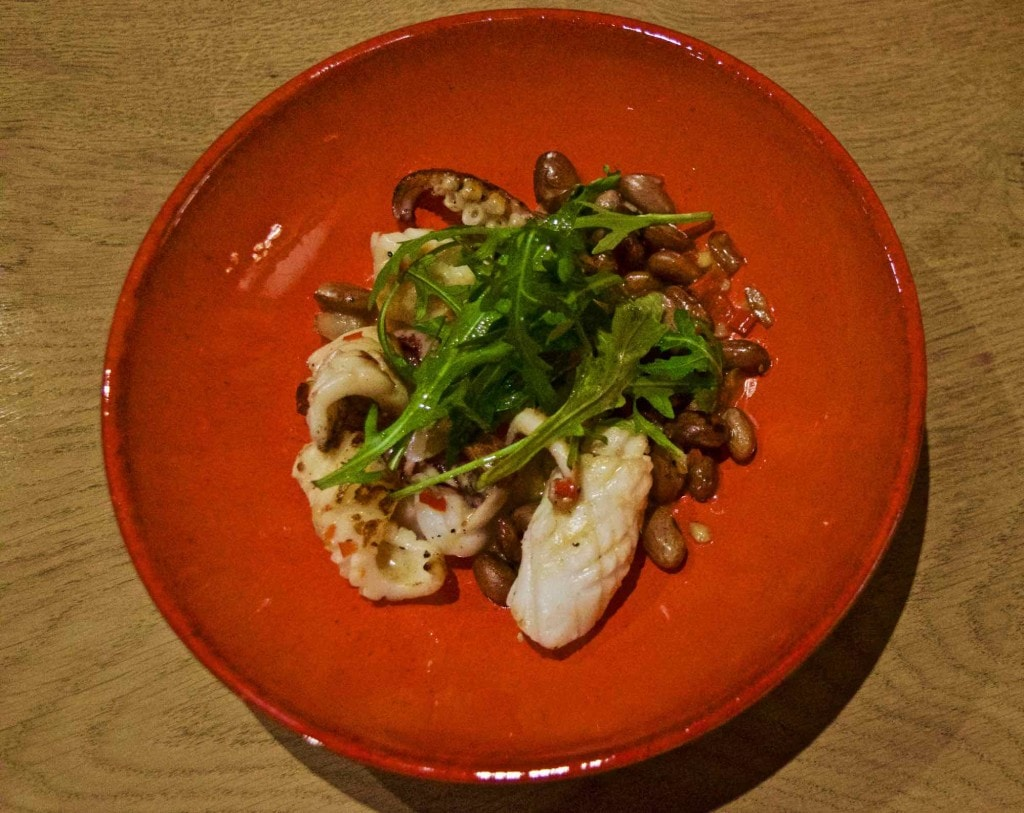 Squid starter at Burley Manor Hotel, New Forest