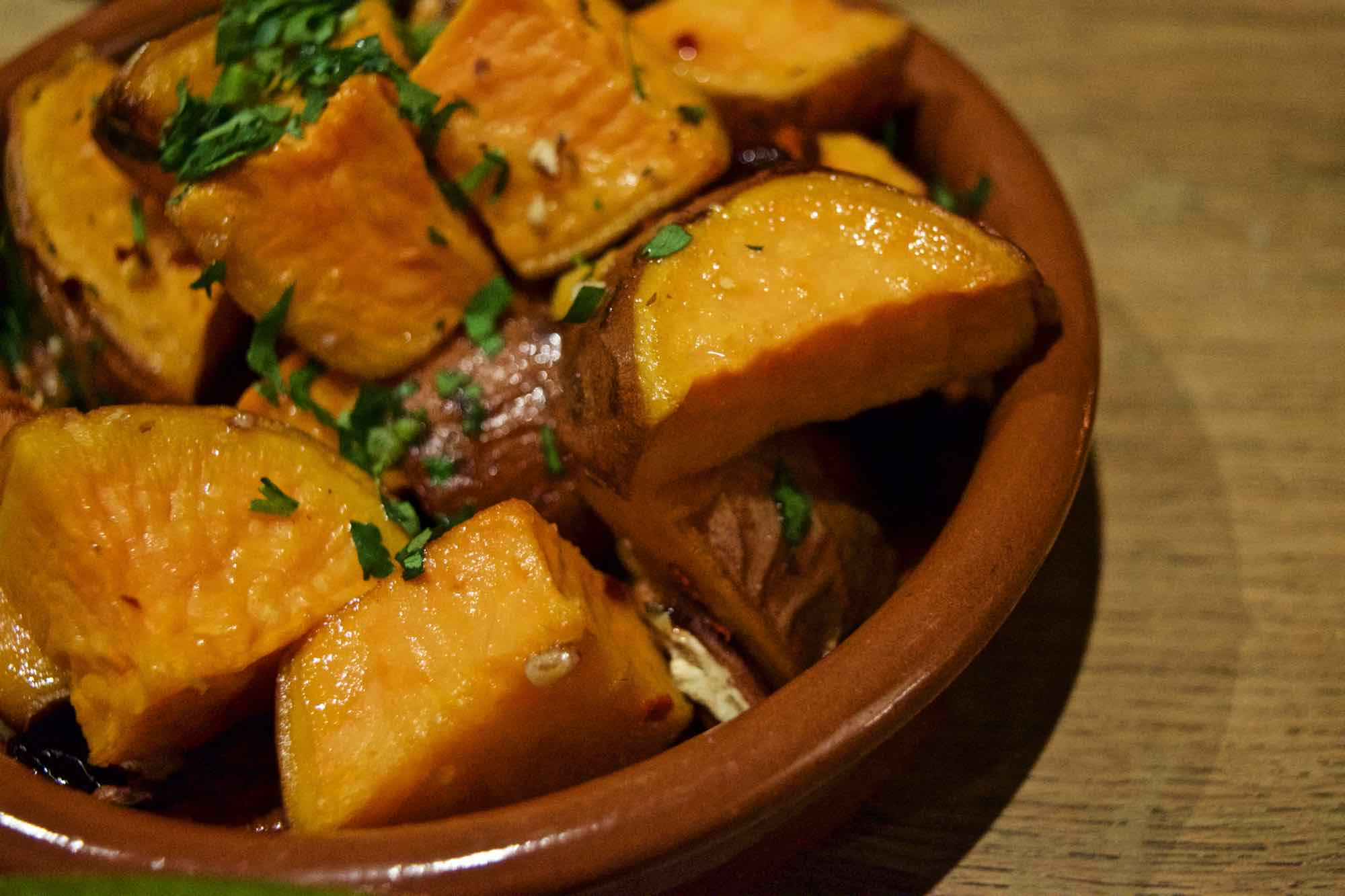 Sweet potato at Burley Manor Hotel, New Forest