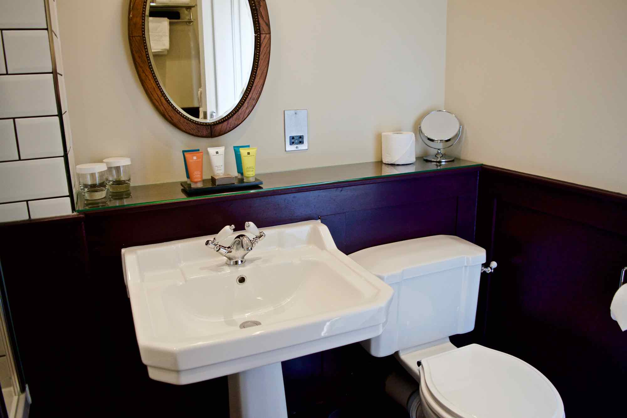 Bathroom at Burley Manor Hotel, New Forest