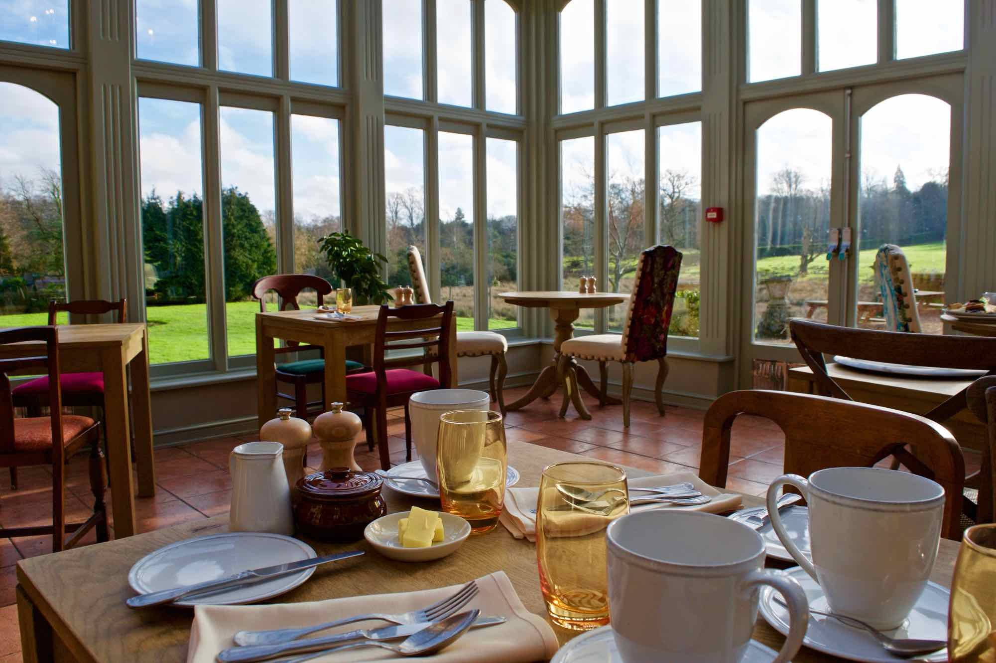 Breakfast room at Burley Manor Hotel, New Forest
