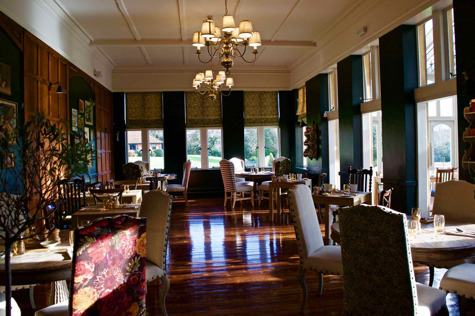 Dining Room At Burley Manor Hotel New Forest