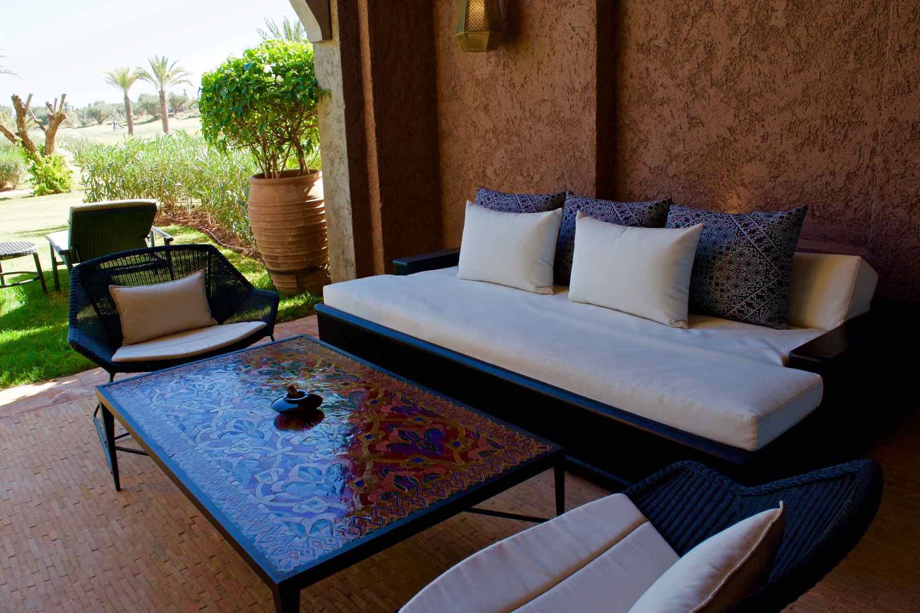 Outdoor area in the Senior Suite at Royal Palm Marrakech