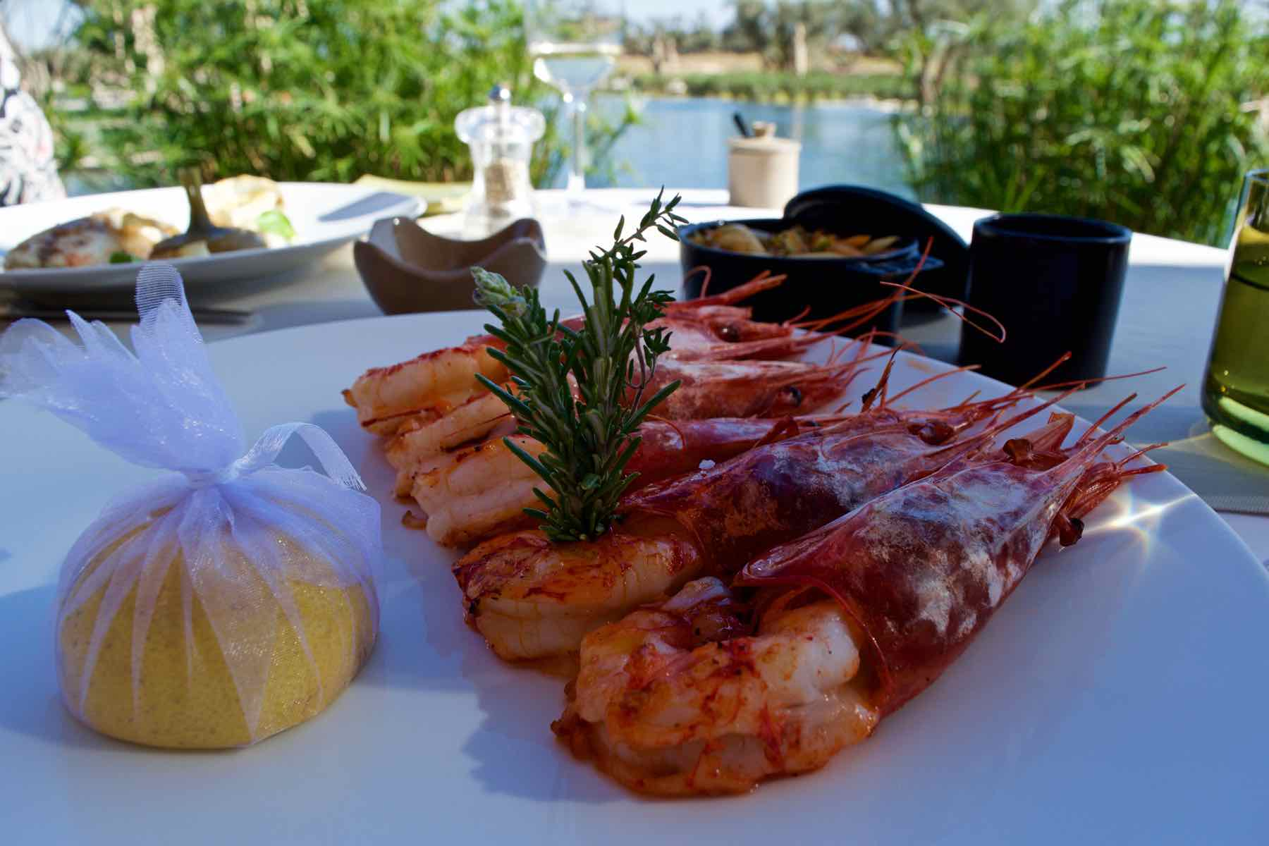 Royal King Prawns at the Royal Palm Marrakech