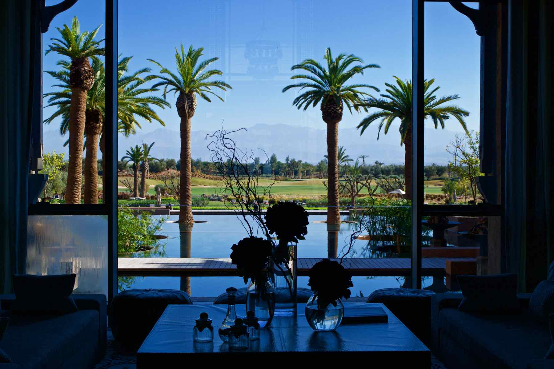 View from reception at the Royal Palm Marrakech