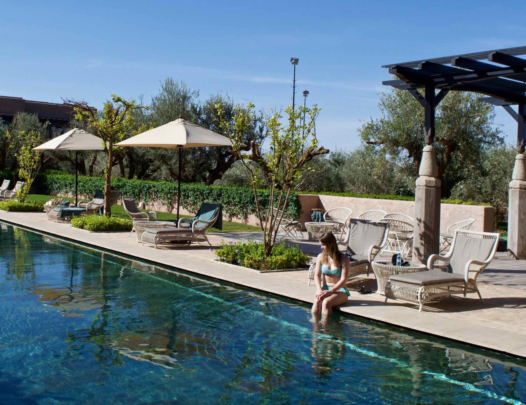 Enjoying the pool at Royal Palm Hotel Marrakech