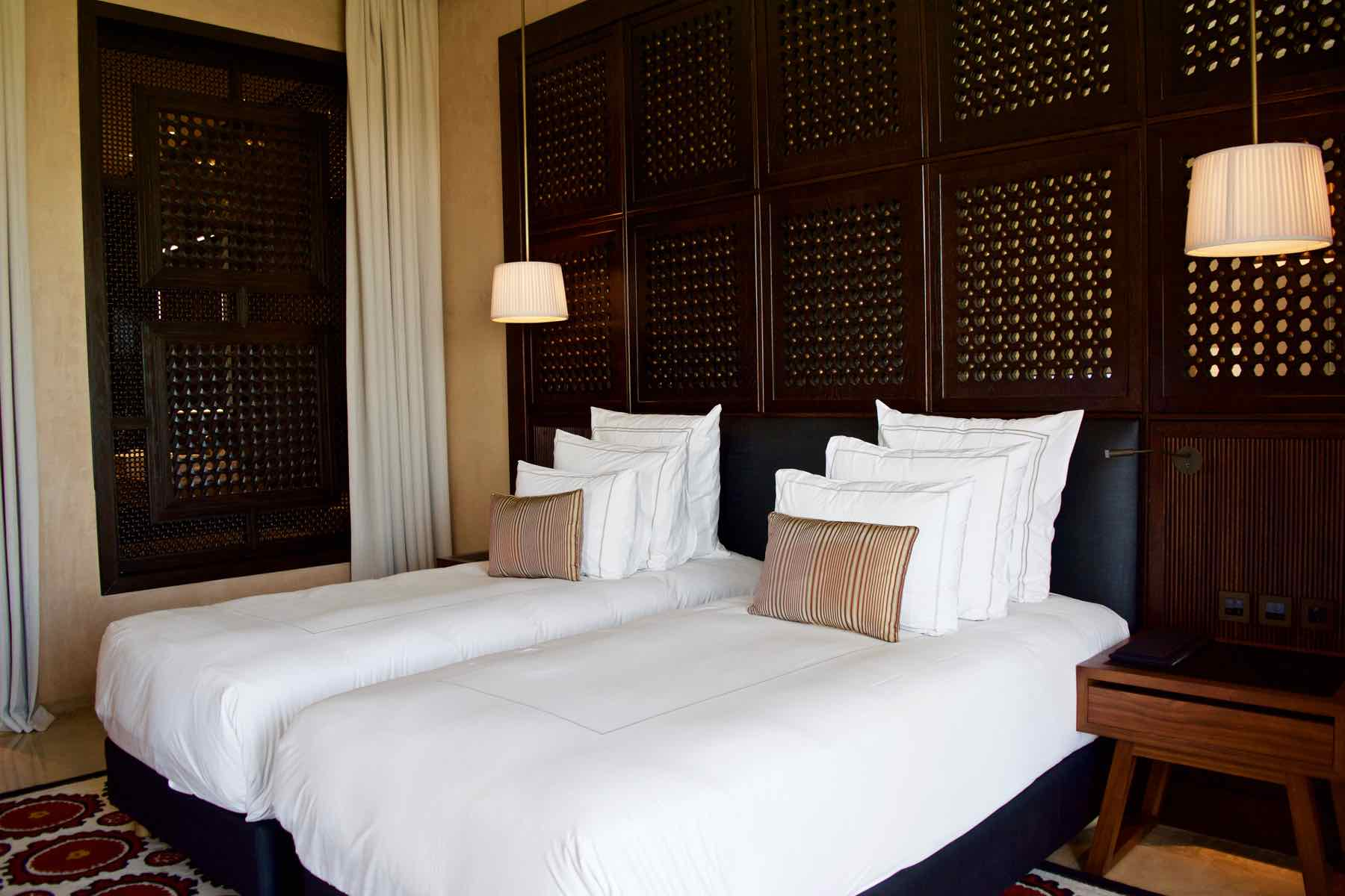 Twin Bedroom in the Senior Suite at Royal Palm Marrakech