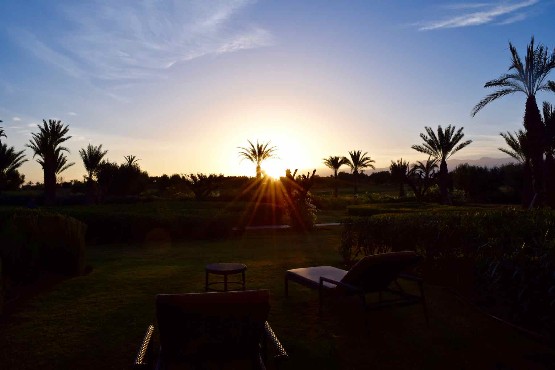 Sunrise at Royal Palm Hotel Marrakech