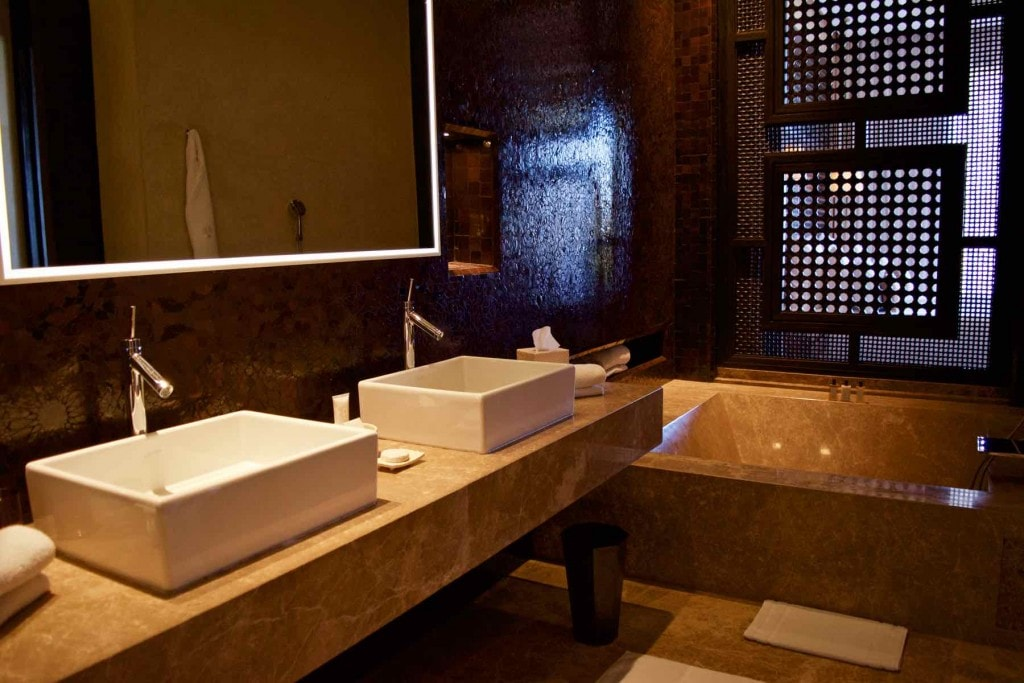 Bathroom in the Senior Suite at Royal Palm Marrakech