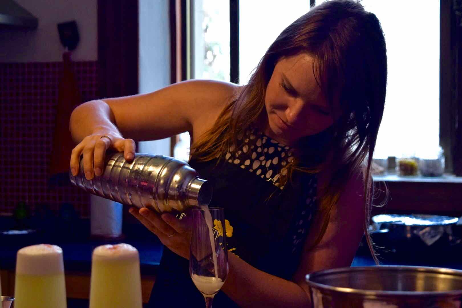 Making Pisco Sours in Santiago, Chile