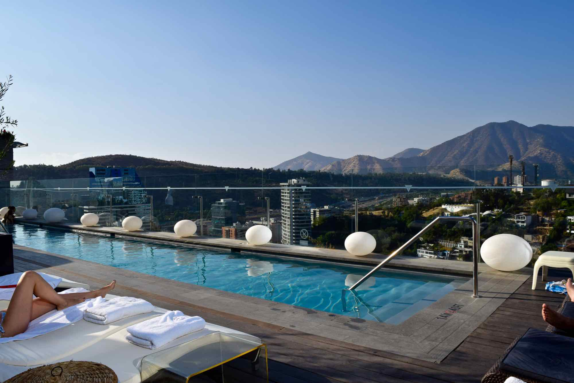 W Hotel Rooftop Pool Santiago Chile