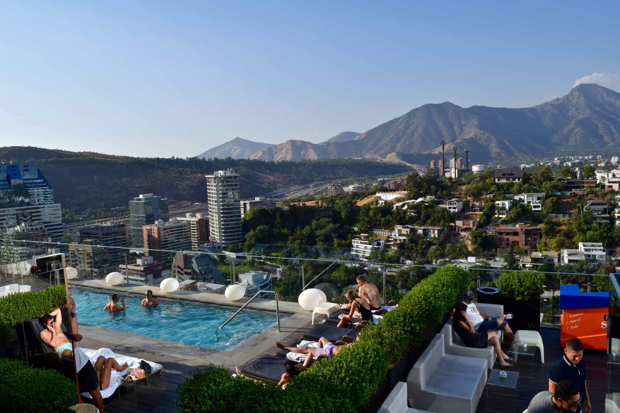 W Hotel Swimming Pool Santiago Chile