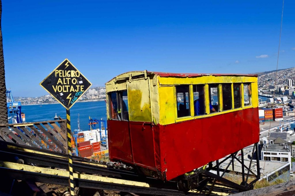 Funicular in Valparaiso Chile
