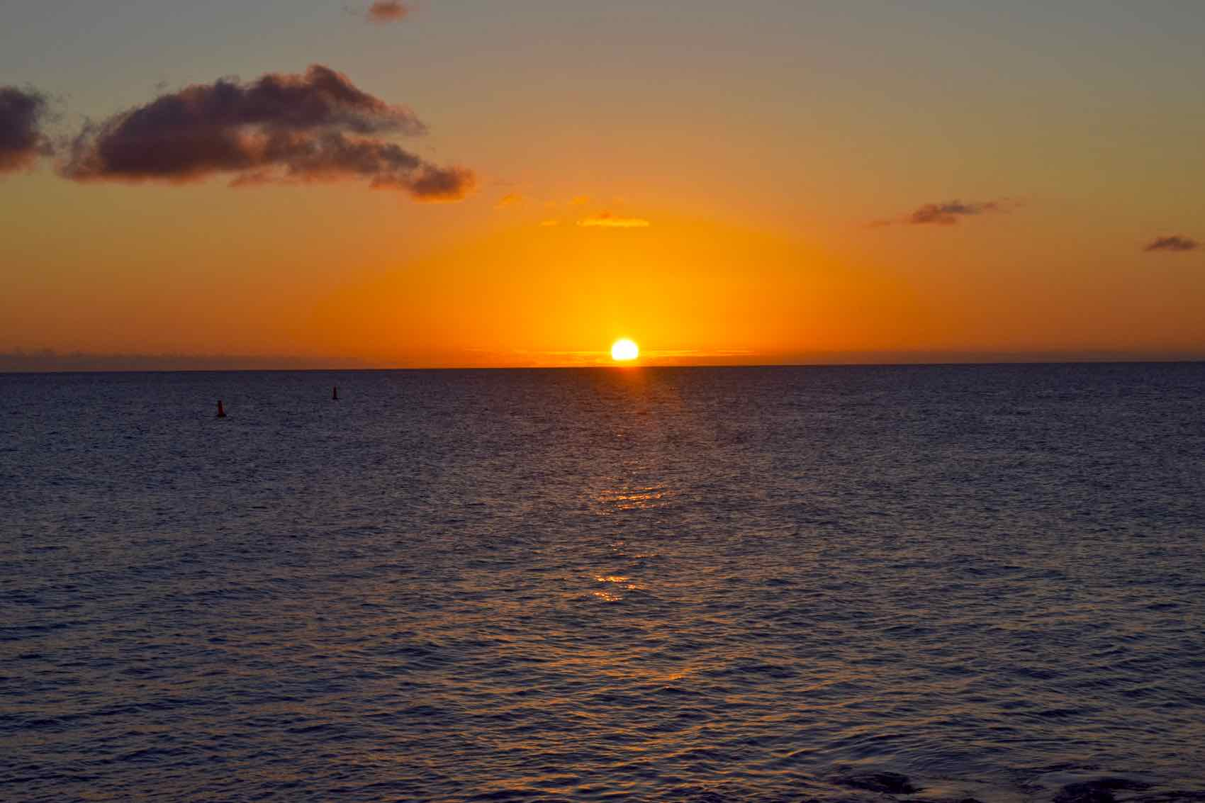 Sunset at Sunset Beach, Saint Martin