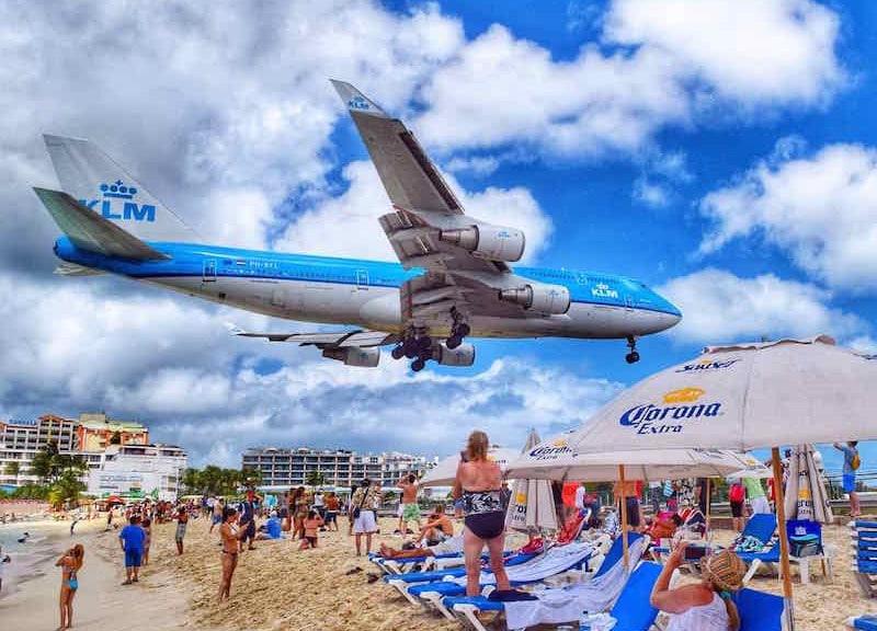 St Martin Plane Maho Beach