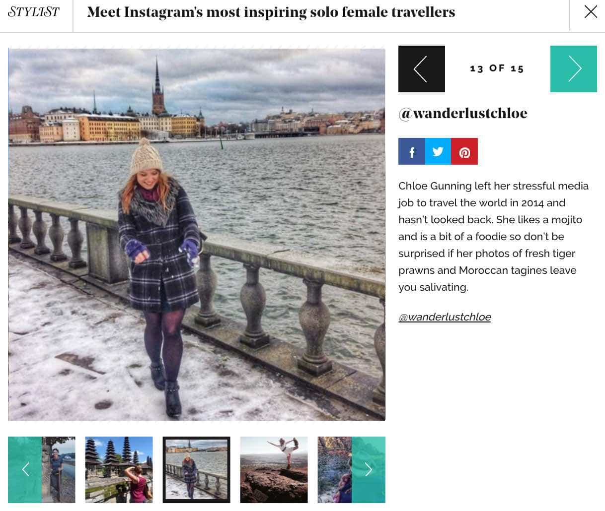 Stylist Female Travellers To Follow On Instagram