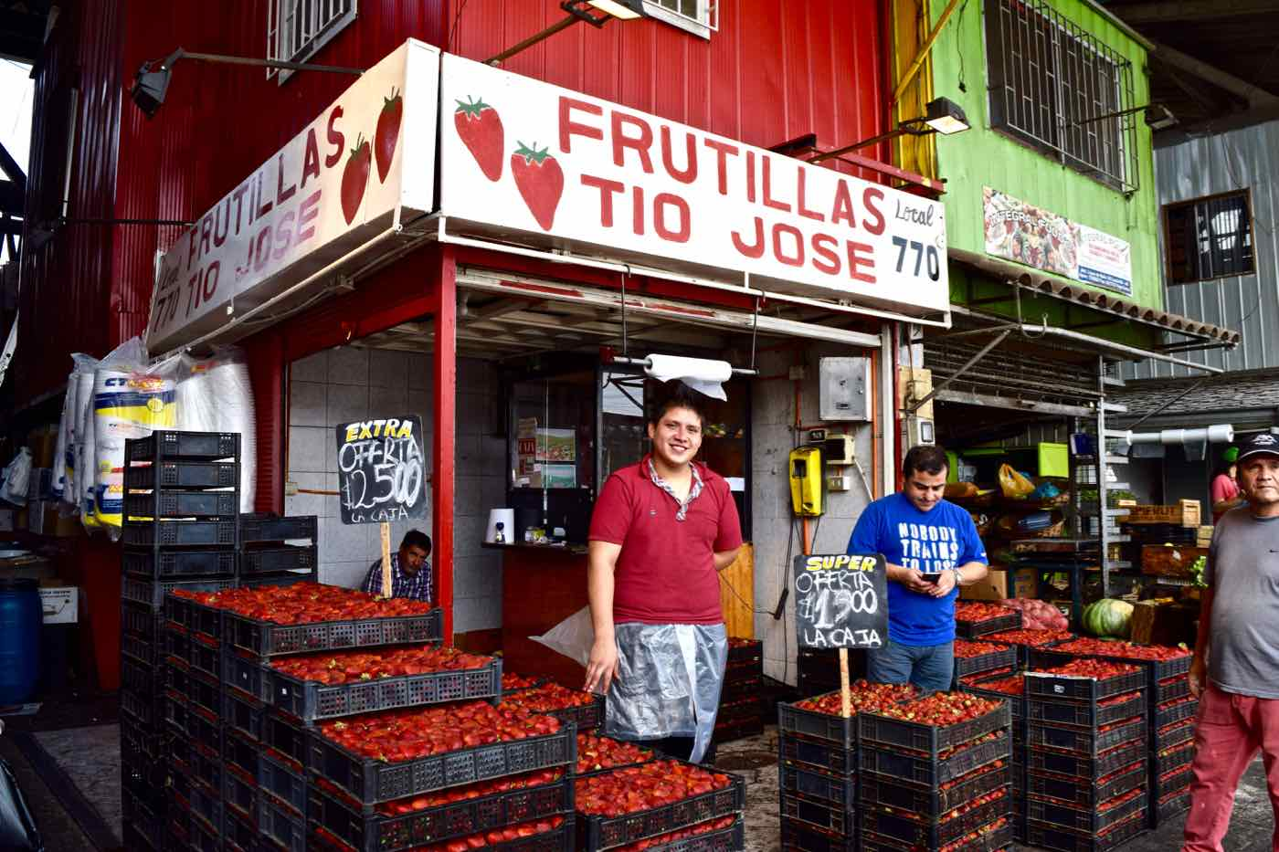Strawberry Corner in Santiago's Central Markets