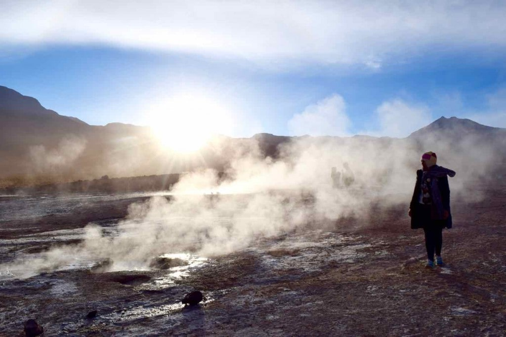 Sunrise at El Tatio Geysers, Chile