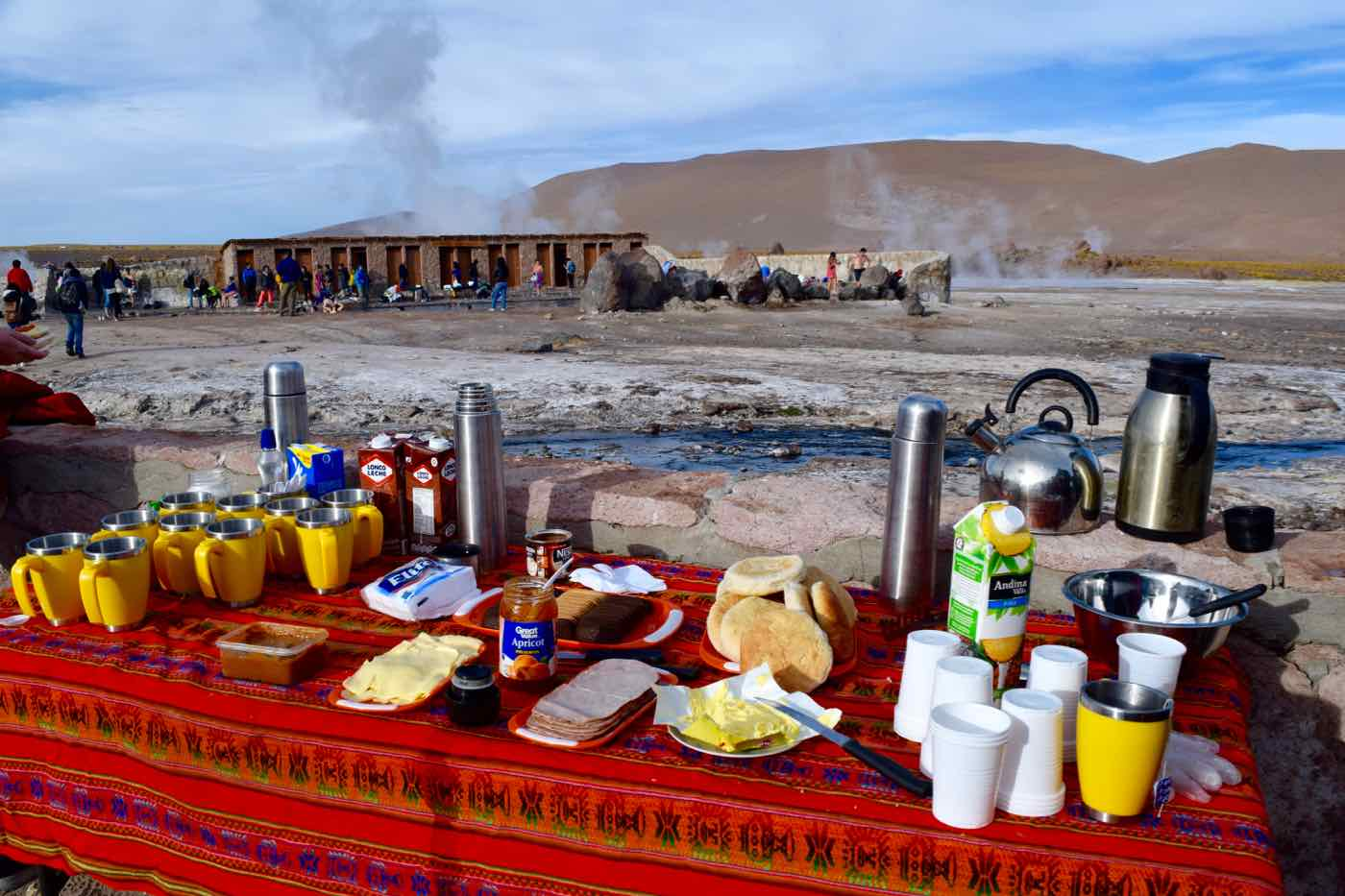 Breakfast at El Tatio Geysers