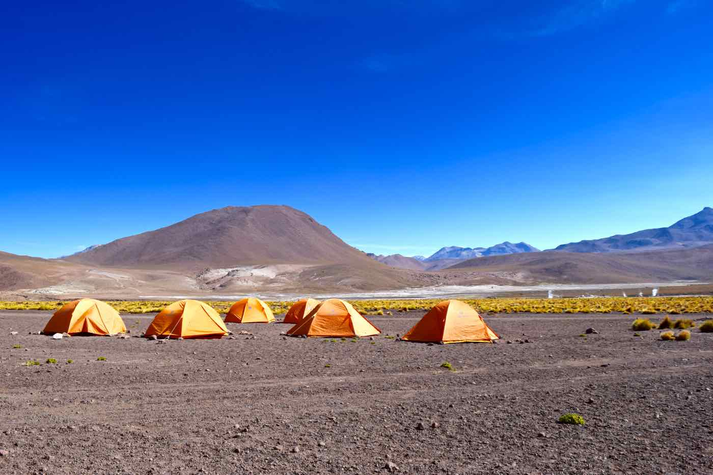 Tents close to El Tatio Geysers, Chile