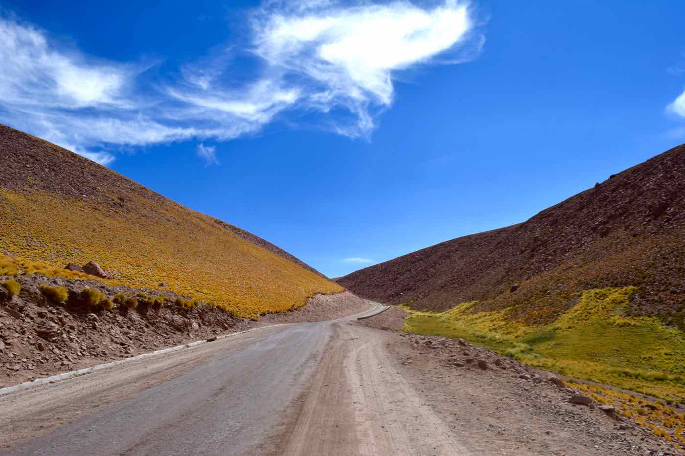 Driving to El Tatio Geysers, Chile
