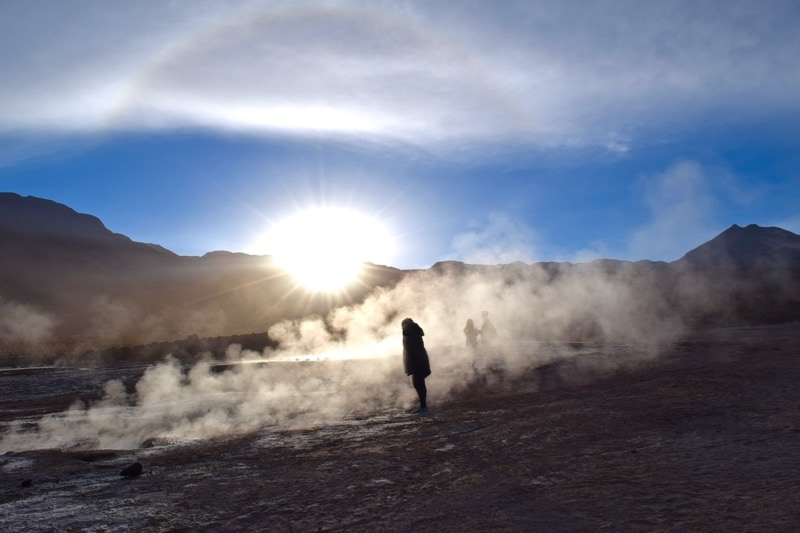 El Tatio Geysers at sunrise, Chile
