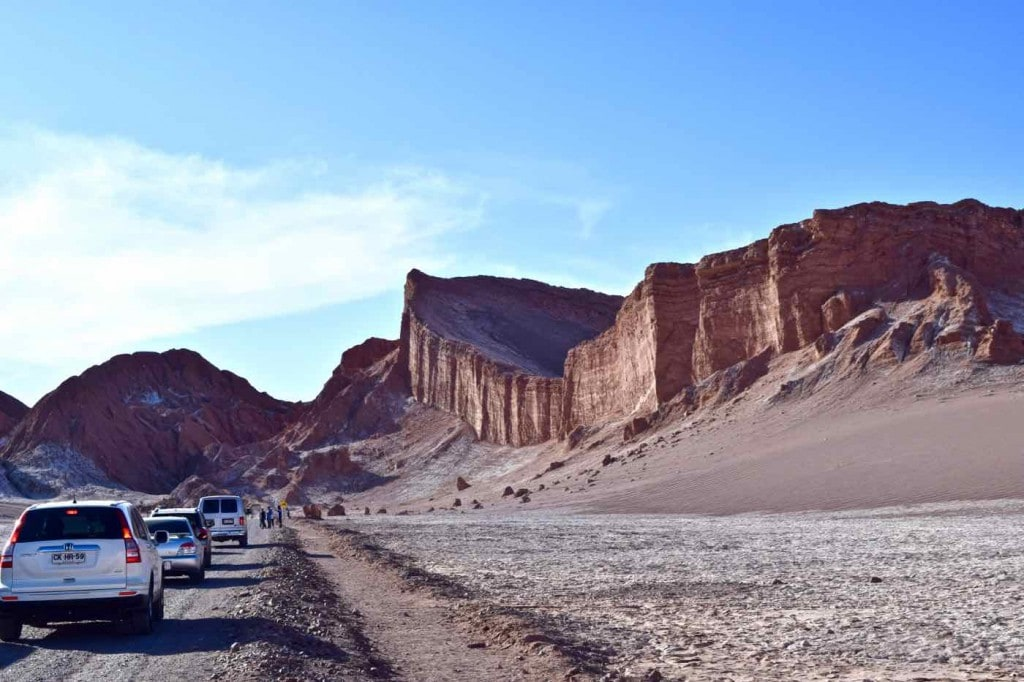 Driving through El Valle De La Luna, Chile