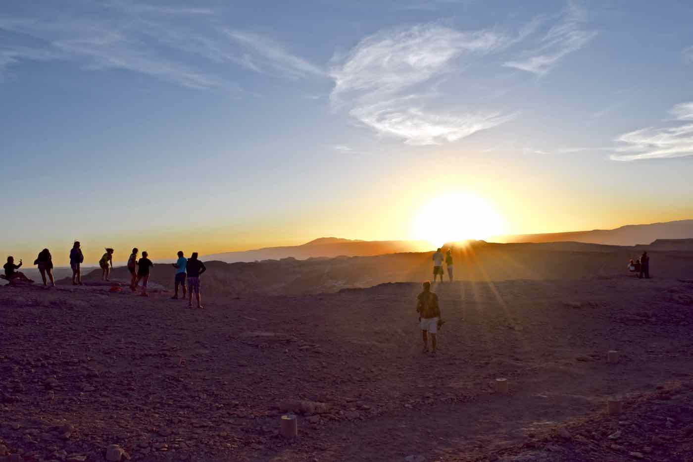 Sunset over El Valle De La Luna, Chile