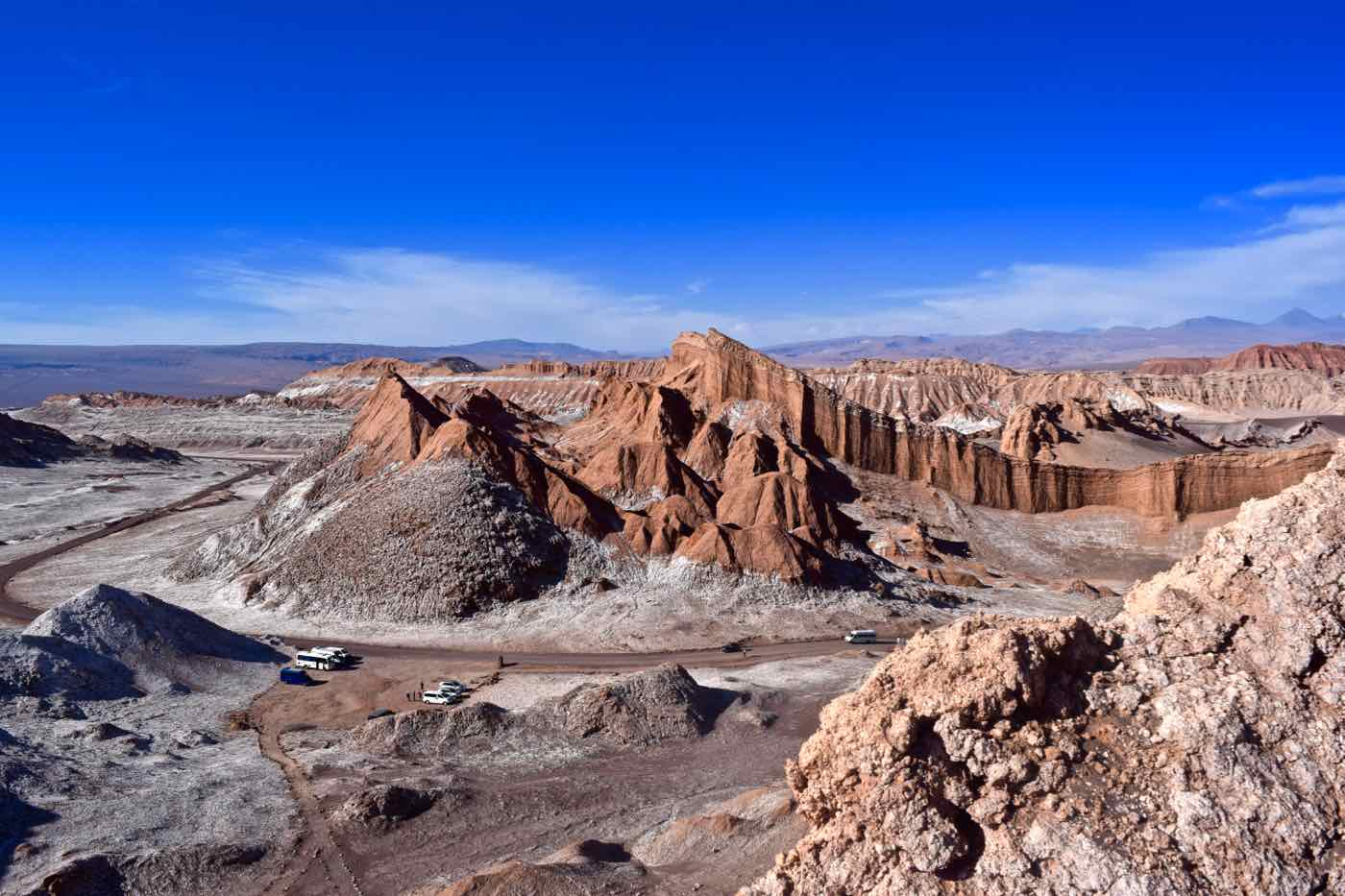 View of El Valle De La Luna, Chile