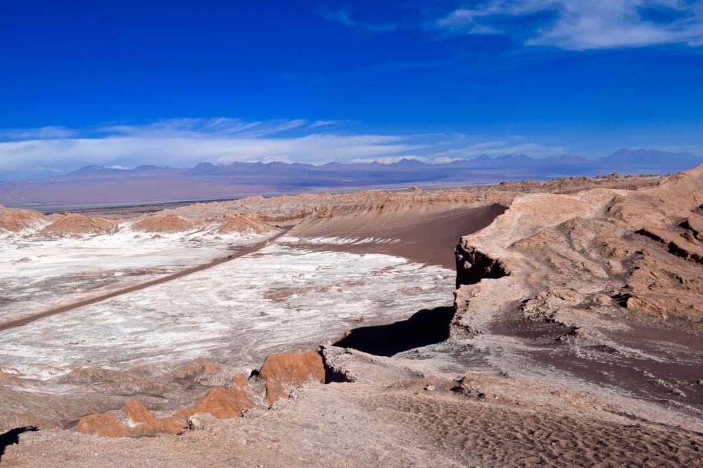 View of El Valle De La Luna, Chile