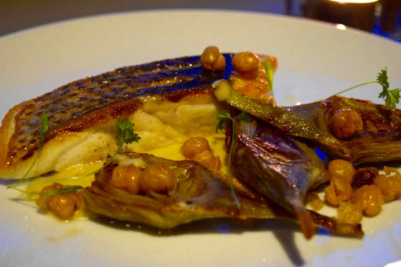 Wild sea bass at Osteria London
