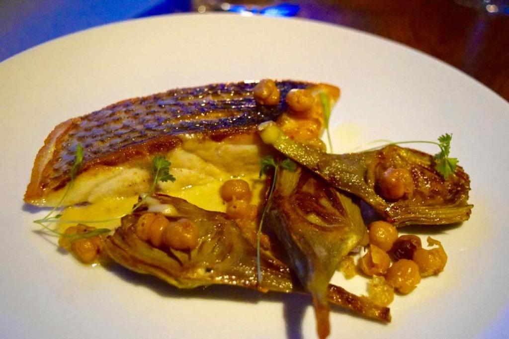 Wild sea bass at Osteria London