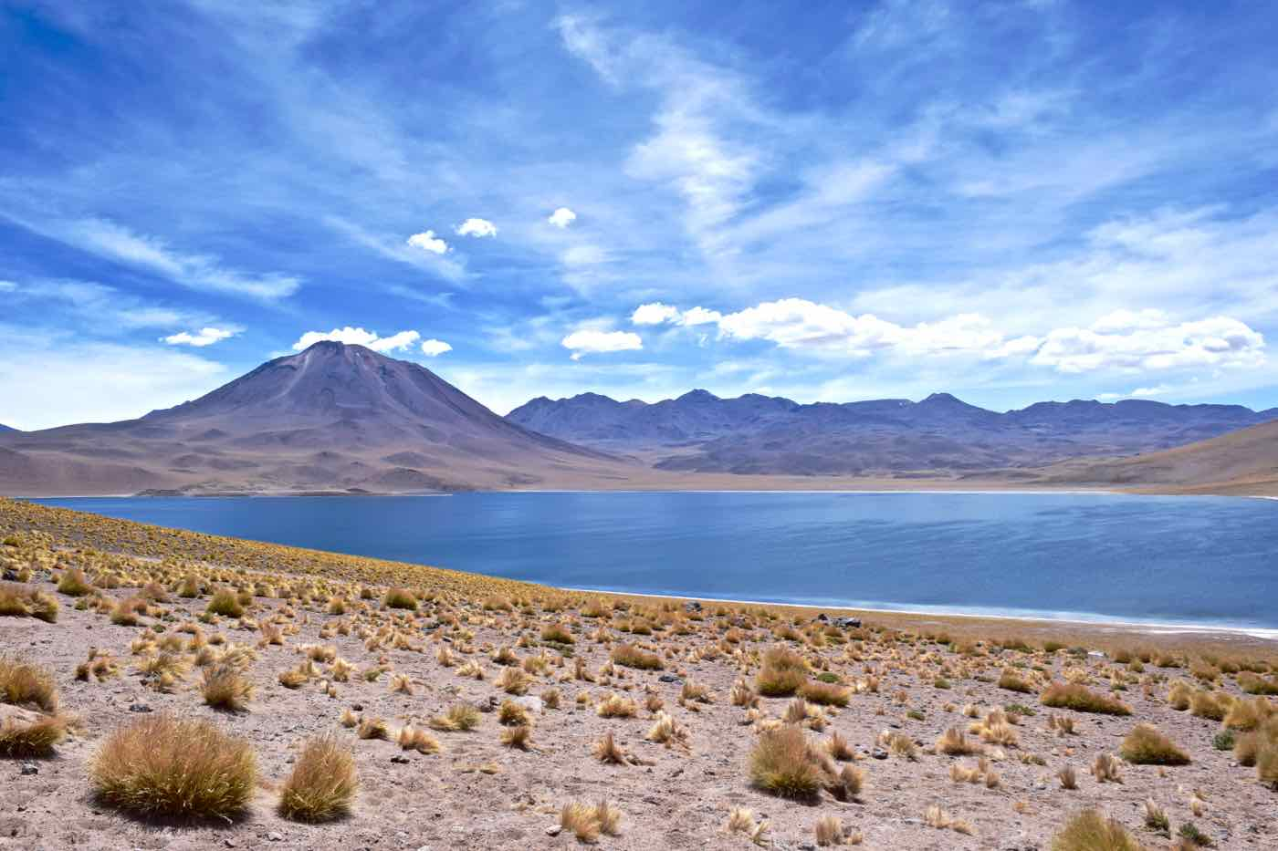 Miscanti Volcano and Lagoon - Chile's lagunas altiplanicas