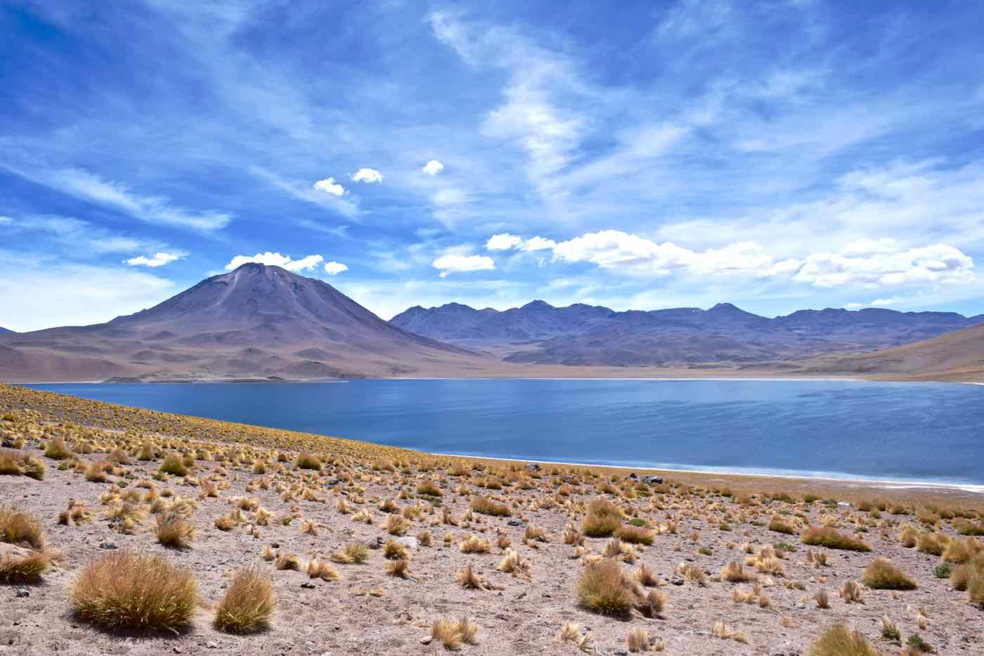 Miscanti Volcano and Lagoon, Chile