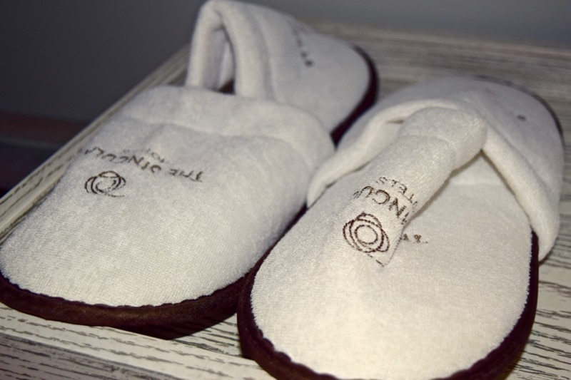 Slippers at The Singular Hotel, Santiago