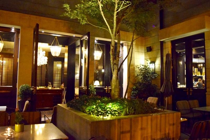 Courtyard Restaurant at night, The Singular Hotel, Santiago