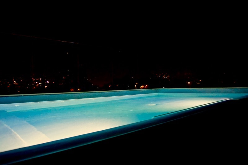 Rooftop Swimming Pool At Night at The Singular Hotel, Santiago