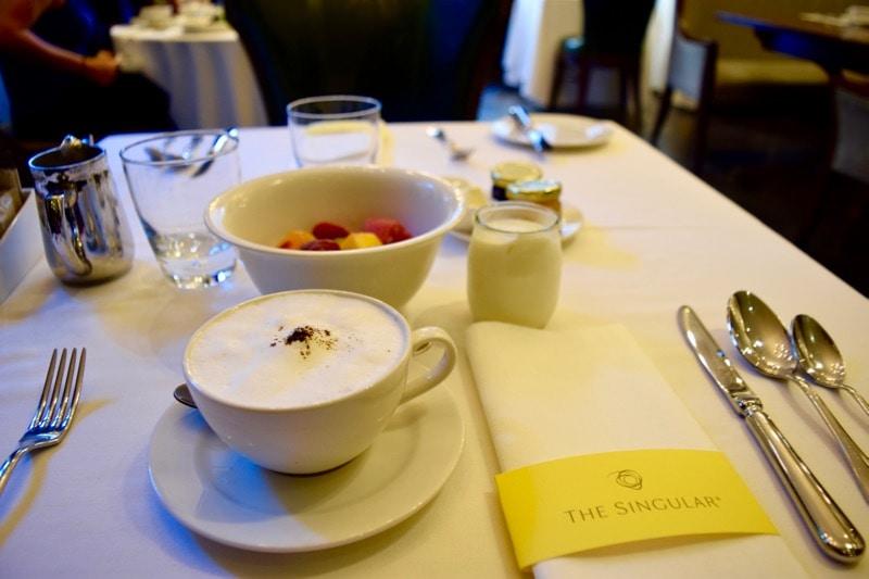 Breakfast at The Singular Hotel, Santiago