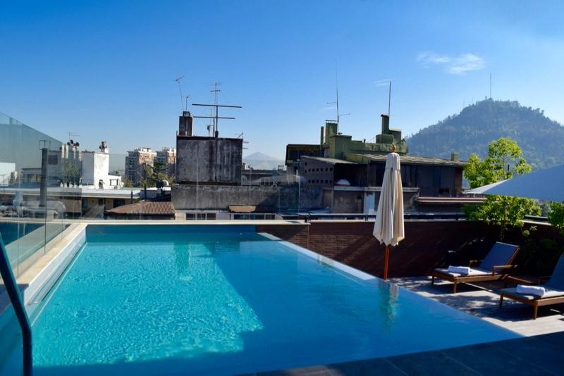 Rooftop Swimming Pool at The Singular Hotel, Santiago