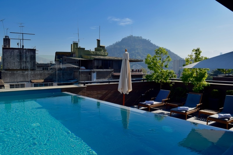 Rooftop Swimming Pool at The Singular Hotel, Santiago
