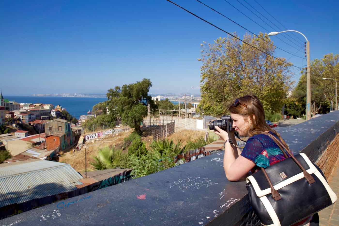 Snapping photos in Valparaiso, Chile