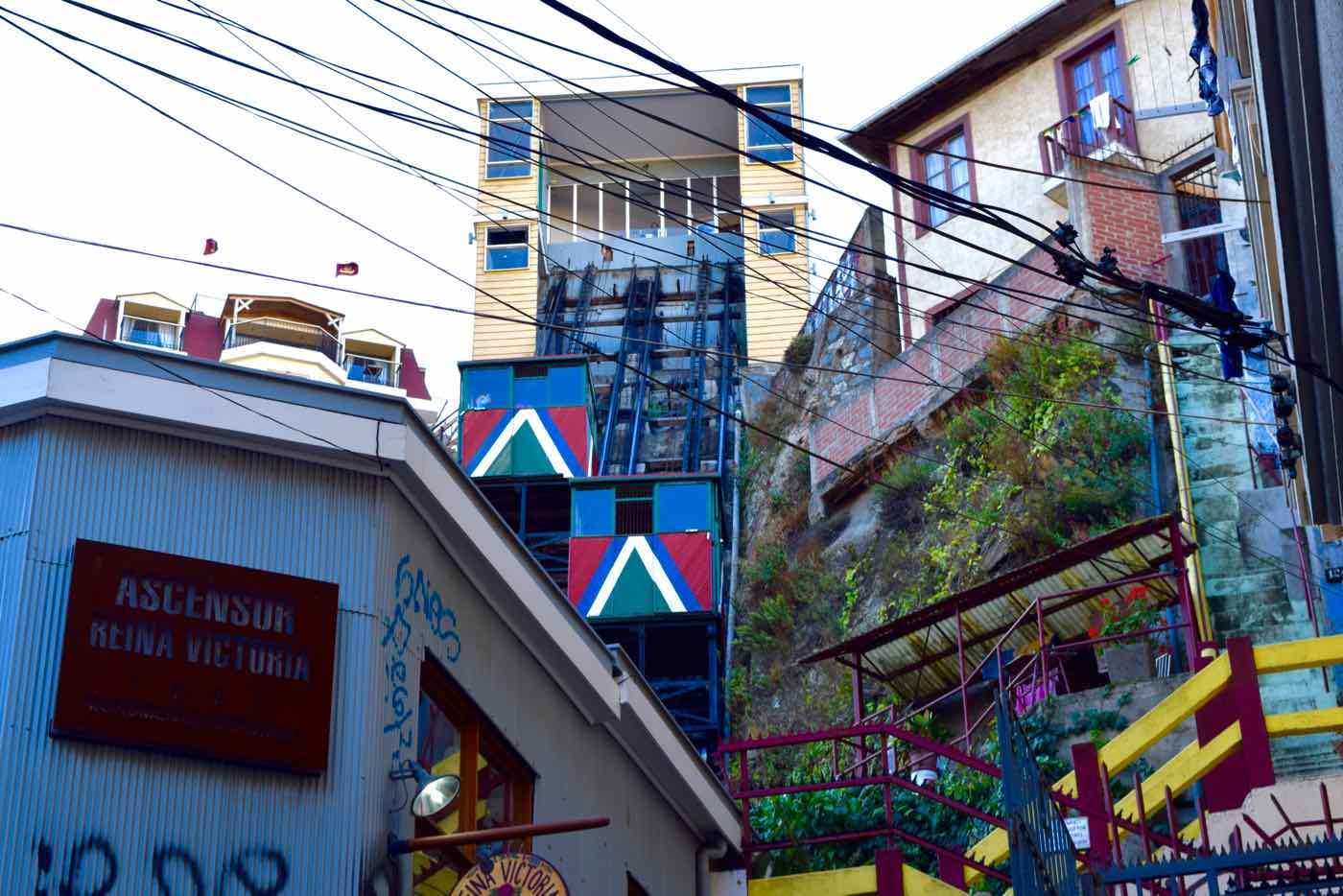 Colourful Funicular in Valparaiso