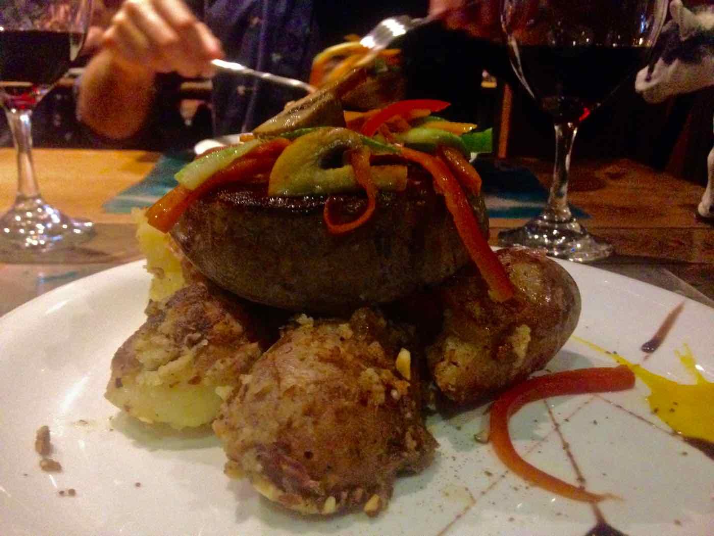 Steak at Fauna Restaurant, Valparaiso, Chile