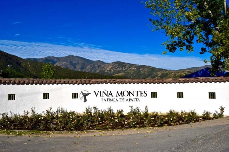 Entrance to Vina Montes, Colchagua Valley, Chile