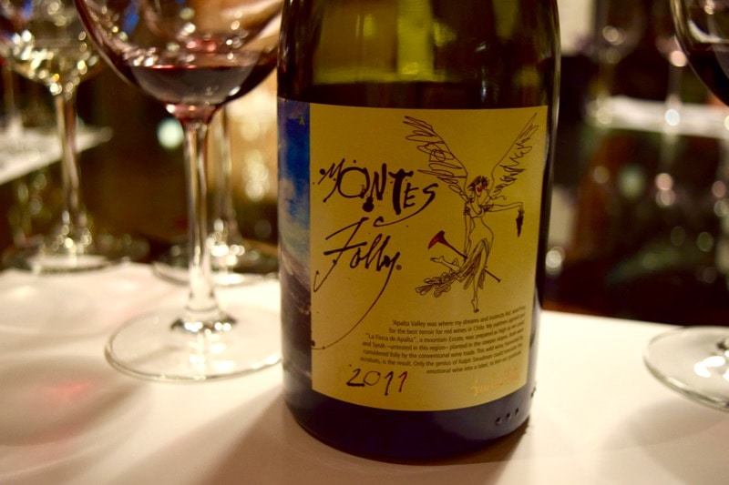 Tasting Montes Folly at Vina Montes, Colchagua Valley, Chile