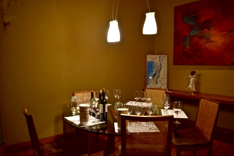 Wine tasting room at Vina Montes, Colchagua Valley, Chile