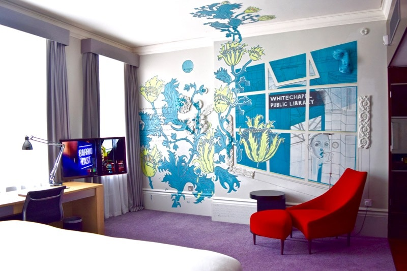 Street Art Room at Andaz Hotel Liverpool Street, London