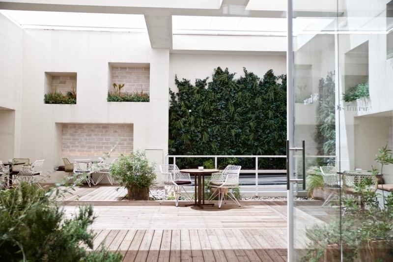 Terrace area at Disfrutar Restaurant Barcelona