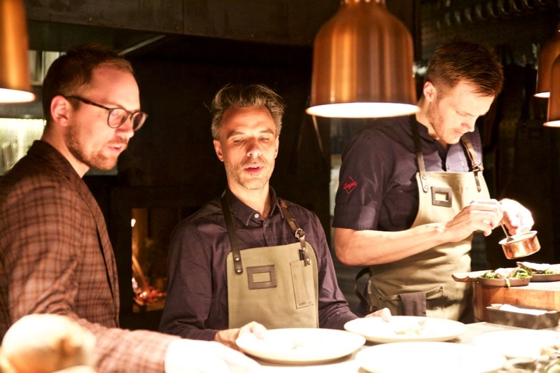 Chefs busy at work at Restaurang Ekstedt, Stockholm