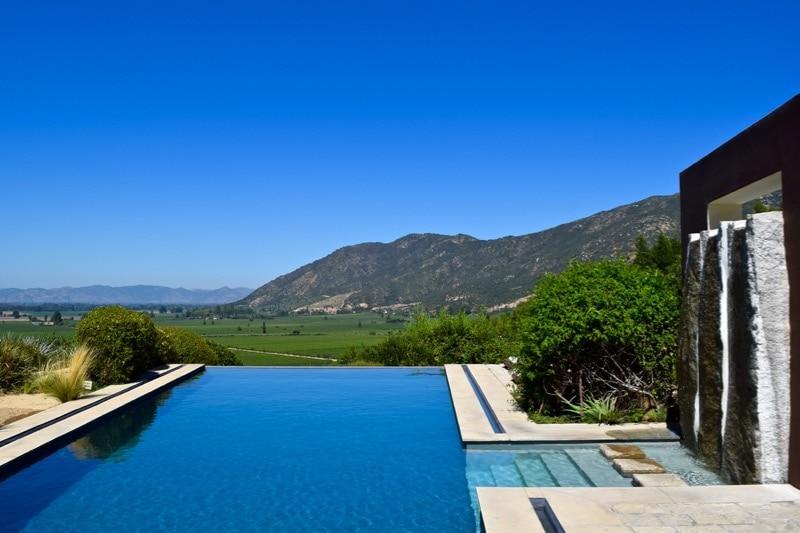 Stunning infinity pool at Lapostolle Residence
