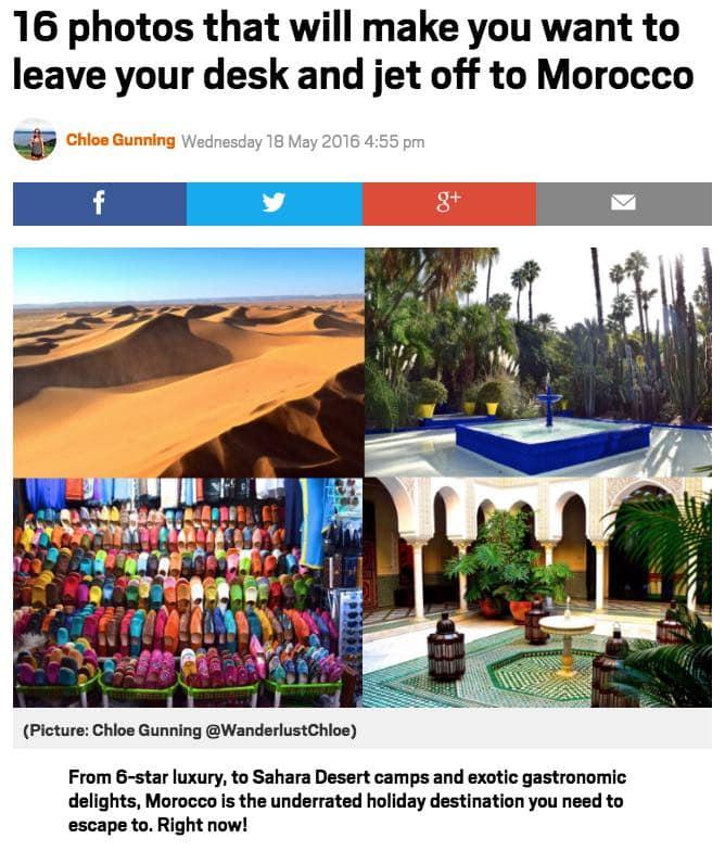 Metro - Morocco Feature
